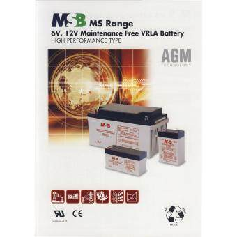 MSB 6V 12AH Rechargeable Sealed Lead Battery (MS6-12) - 2
