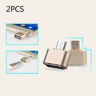 Harga Multifuntional Small USB Converters Android Mobile Phone AdapterUSB Millet USB Disk USB Cable Reader Otg Conversion Head(rose gold)