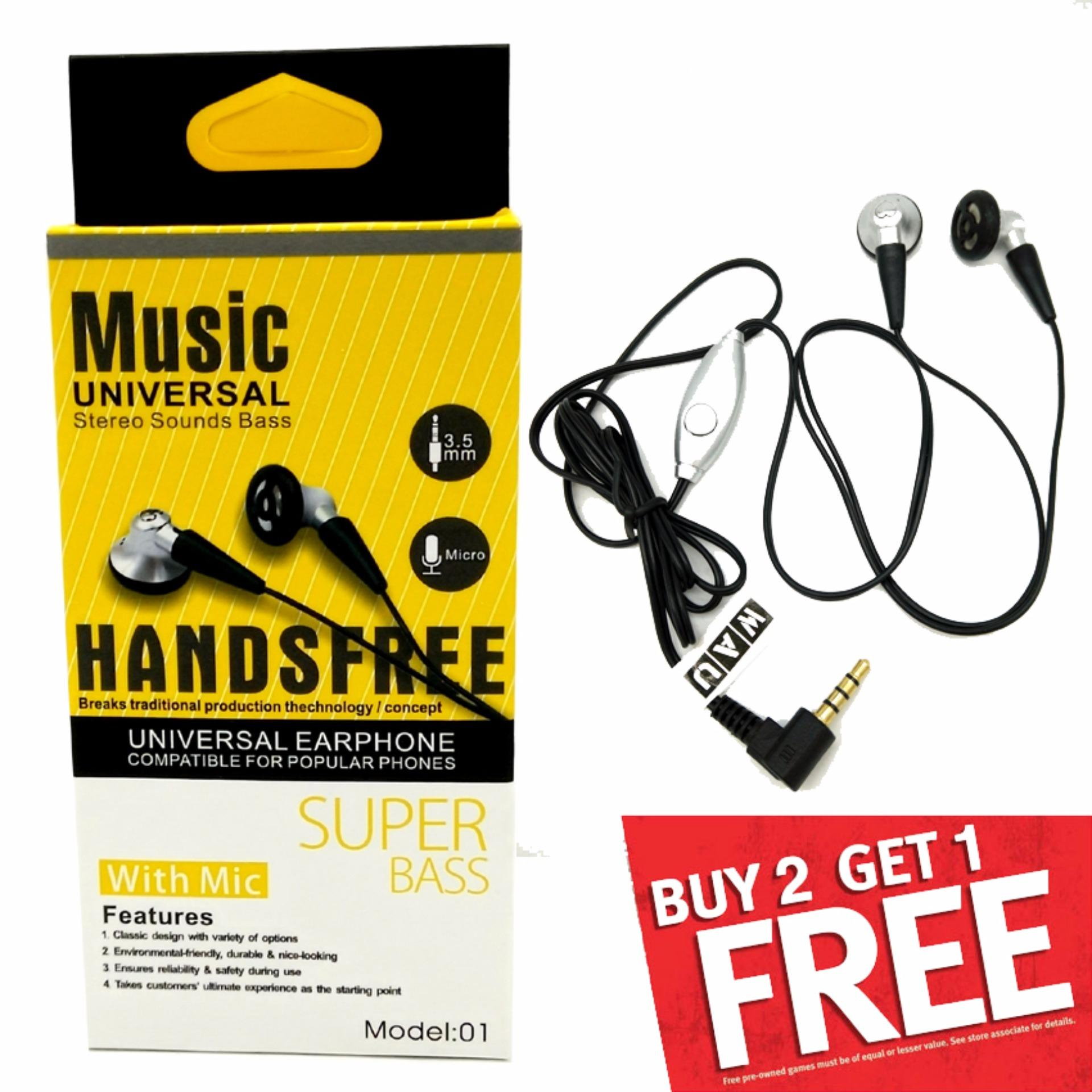 Music Universal Strereo Sounds Bass Earphone With Mic
