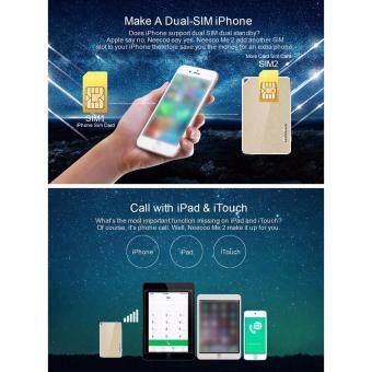 NeeCoo Bluetooth 4.0 Dual SIM Card Adapter Support Nano SIM CardFor iPhone SE / 5S / 6 / 6 Plus / 6S / 6S Plus - Black