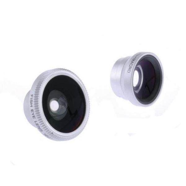 Neewer 3IN1 180° Fish Eye Fisheye Lens Wide Angle, Micro Lens for iPhone 5S 5C 5 4S 4 3GS, Samsung Galaxy S5 S4 S3 S2 Note 3, Google Nexus 5, HTC ONE and Other Smartphones with Flat Camera (Silver) - intl