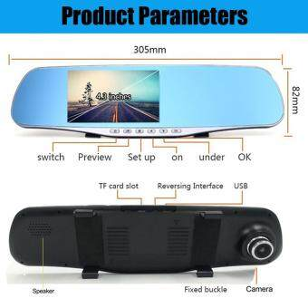 New 4.3 Inch Full HD 1080P Dual Lens Car DVR Rearview Mirror Camera G-Sensor Night Vison Video Recorder Registor Dash Cam