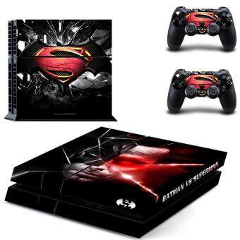 Harga New Batman vs Superman Vinyl Decal PS4 Skin Sticker For SonyPlaystation 4 PS4 Console protection film and 2Pcs ControllerProtective skins