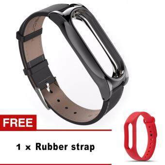 Harga New Mijobs Leather Strap For Xiaomi Mi Band 2 Wrist StrapsScrewless Bracelet Smart Band Replace Accessories For Mi Band 2
