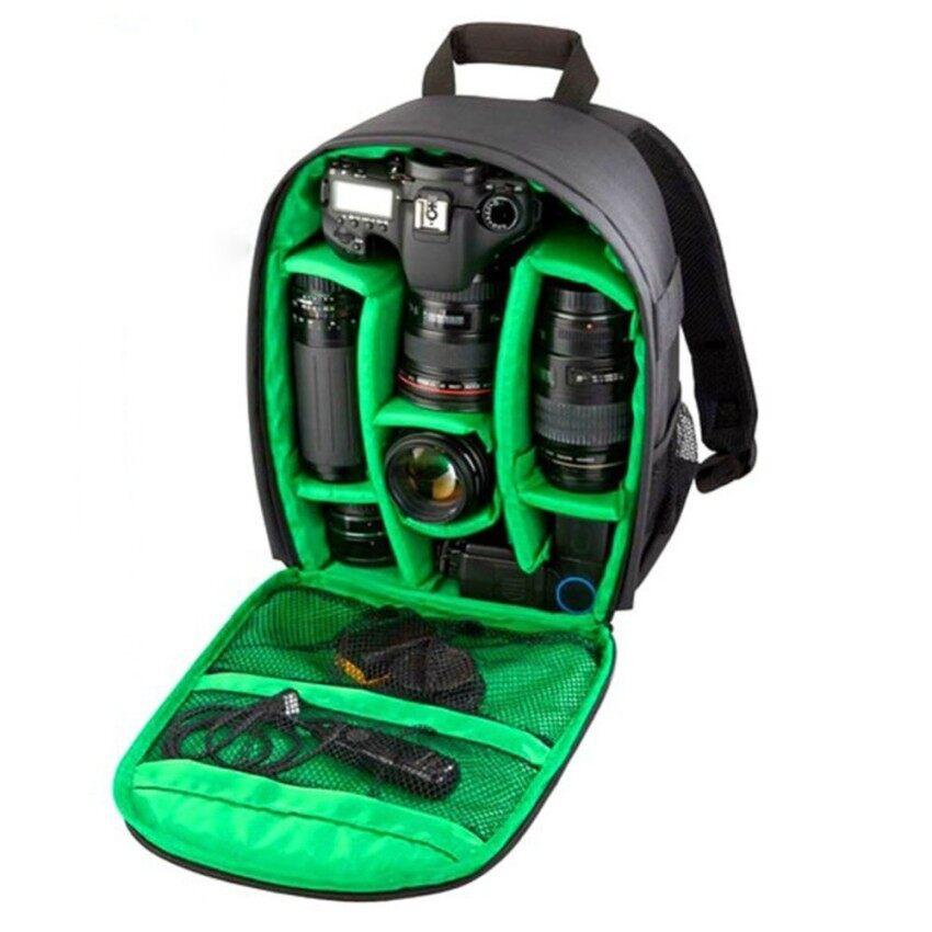 Pola Baru Tas Kamera DSLR Video Foto Ransel untuk Camerad3200 D3100 D5200 D7100 Kamera Kompak Kecil Ransel (Hijau) -Internasional