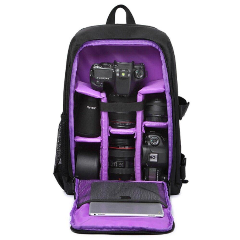 Baru Pola Anti-Air Tas Kamera DSLR Video Foto Ransel untuk Kamera Digital D3200 D3100 D5200 D7100 Kamera Kompak Kecil ransel-Internasional