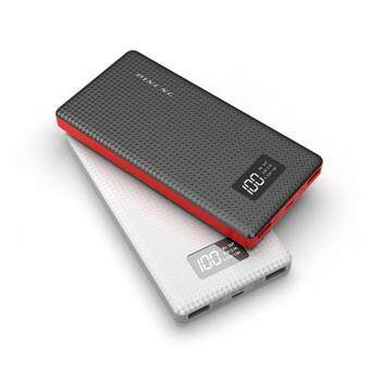 NEW PINENG PN-963 10000mAh Lithium Polymer Power Bank - Black--FreePouch Bag