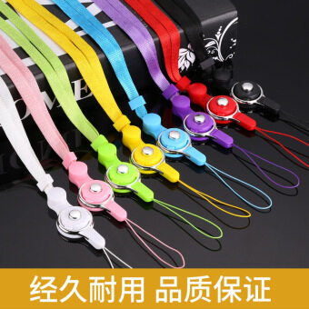 New style second-generation mobile phone lanyard is not Le neck twoin one mobile phone lanyard woven rope ring lanyard mobile phonelanyard - 2