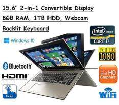 Newest High Performance Toshiba Satellite Truelife 15.6 P55W FHD(1920x1080) Convertible 2-in-1 TouchScreen Laptop, Intel i7-6500U, 8GB RAM, 1TB HDD, Windows 10 Malaysia