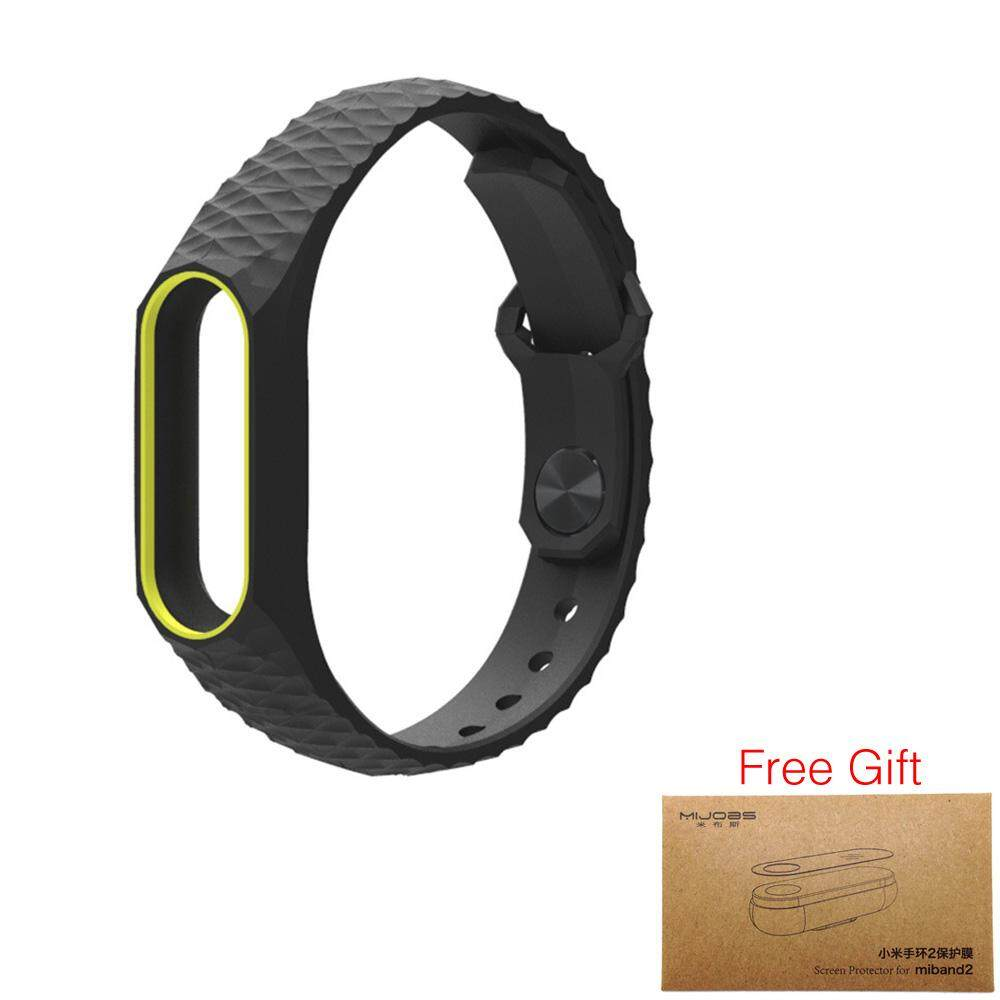 Fitur Newest Original Mijobs Colorful Silicone Strap Bracelet Double Xiaomi Mi Band 2 Oled Replacement Stainless Steel Silver Color For Wristband
