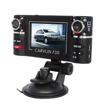 niceEshop Dual Lens Car DVR Vehicle Video Recorder Dash Camera Camcorder (Black)