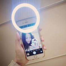 ring light for phone. niceeshop led ring light selfie night flasher for iphone 7/ samsung/ xiaomi smart phone (include aaa batteries, white) o