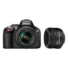 Nikon D5100 with 18-55mm VR + 50mm f1.8D Black