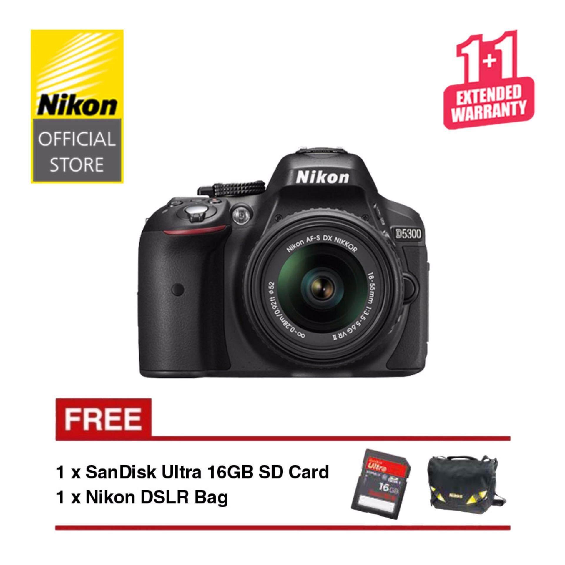 Carian Harga Termurah Nikon D5300 Dslr With Af P Dx 18 55mm F35 56 Kit Vr