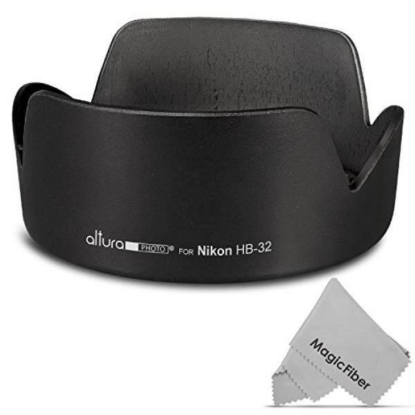 (Nikon HB-32 Penggantian) Altura Photo Lens Hood untuk Nikon 18-140mm F/3.5-5.6G ED VR, 18-135mm F/3.5-5.6G IF-ED, 18-105mm F/3.5-5.6G ED VR, 18-70mm F/3.5-4.5G IF-ED Nikkor DX Lensa-Intl