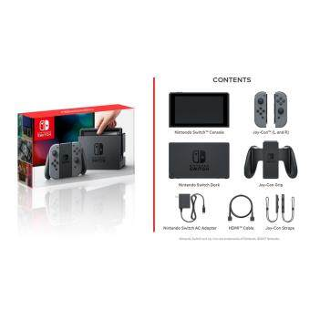 Nintendo Switch Gray Console With Mario Kart 8 + Pro Controller