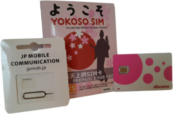 NTT DoCoMo Prepaid Data SIM Card for Japan Travellers - 1 Pack