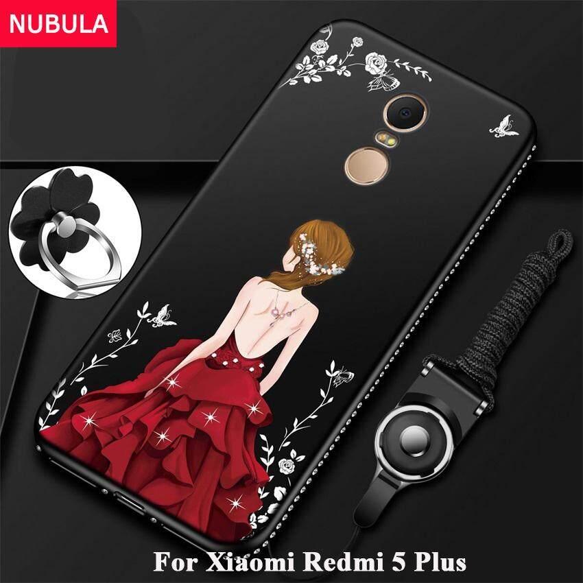 ขาย ซื้อ ออนไลน์ Nebula สำหรับ Xiaomi R Edmi 5 บวกเพชรสวยทีพียูบางเฉียบโทรศัพท์กันกระแทกกรณีเชือกโทรศัพท์และแหวนโลหะ นานาชาติ