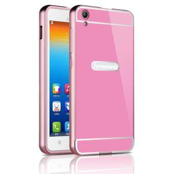 OEM Aluminum Metal Case For Lenovo S850 with HD Screen Protector-Pink(Gold)