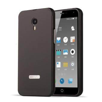 Harga OEM Aluminum Metal Case For Meizu M1 Note with HD Screen Protector-Black