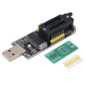 Harga OH 25 SPI Series 24 EEPROM CH341A BIOS Writer Routing LCD Flash USBProgrammer Black/yellow