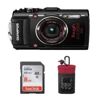 Olympus TG-4 Black (15 meter Waterproof) + 8GB SD Class 10 + Case [Original Malaysia Warranty]
