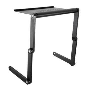 OMAX A6 ADJUSTABLE HEIGHT LAPTOP DESK NOTEBOOK TABLE WITH VENTED STAND (BRIGHT BLACK), Bright Black Malaysia