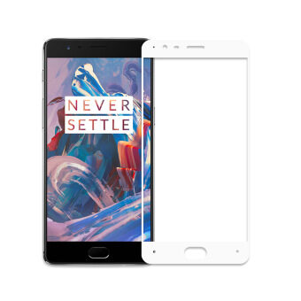 Oneplus 3 Full Cover Premium Tempered Glass Screen Protector OnePlus 3 Brand New Protective Film(White)