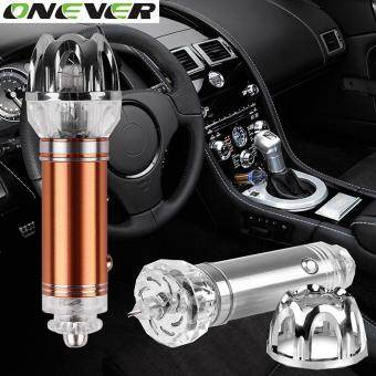 Onever Car Air Purifier 12V Negative Ions Air Cleaner Ionizer AirPurifier Car Dust Smoke PM2.5 Eliminator For Car Home Office