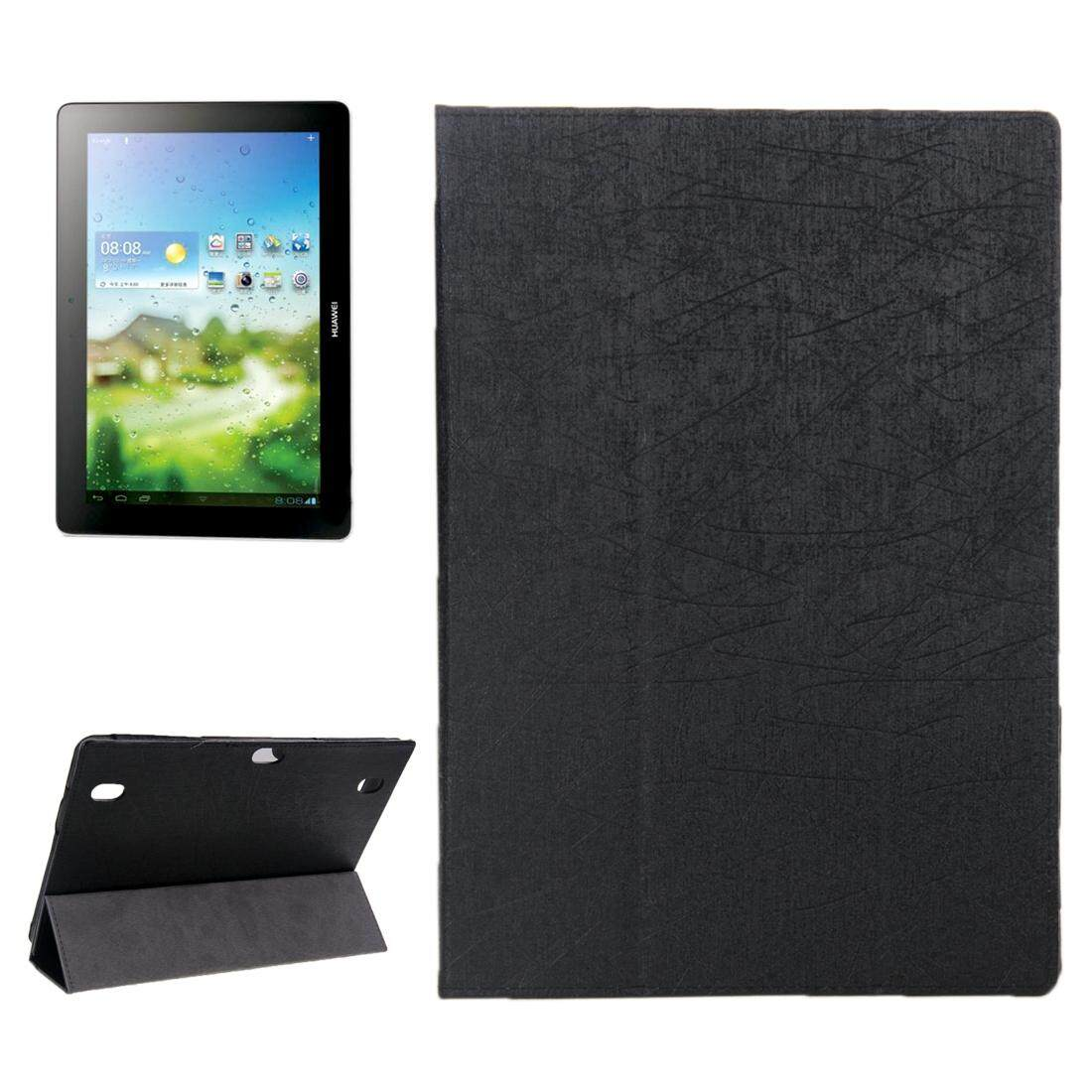 Oracle Texture Magnetic Leather Case with Three-folding Holder for Huawei MediaPad 10 Link / S10-201(Black) - intl