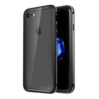 "Original Luphie Anti-scratch Tempered Glass Back Cover + AluminumMetal Frame Cases Set for iPhone 7 4.7"" Case with Retailbox"
