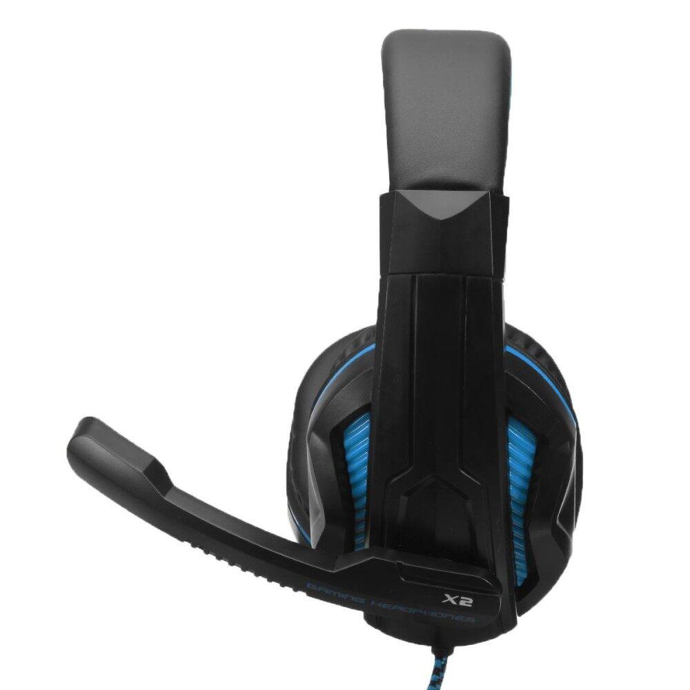 OVANN-X2 Lebih Telinga Buah Permainan Headset Ikat Kepala Mengelilingi Stereo Headphone With Mikrofon-Internasional
