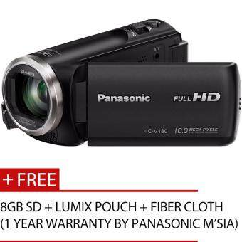 Harga Panasonic HC-V180 Full HD Camcorder (Black)