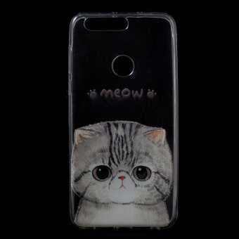 Harga Patterned TPU Ultra-thin Gel Back Cover for Huawei Honor 8 -Adorable Cat