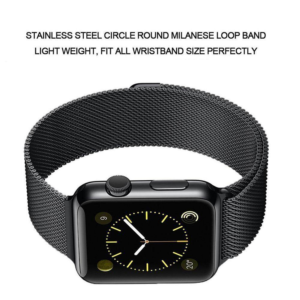 ... Apple Watch Band Magnetic Clasp Mesh Loop Milanese Stainless Steel Replacement Strap For Apple Watch Sport