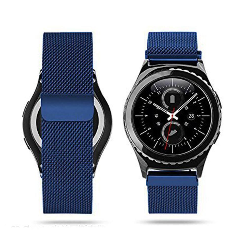 Untuk Samsung Perlengkapan S2 Klasik Jam Tangan Tali, milanese Magnetik Penutupan Putaran Anti Karat Penggantian Logam Anti Karat untuk Samsung Galaksi Perlengkapan S2 Klasik Pintar Jam Tangan