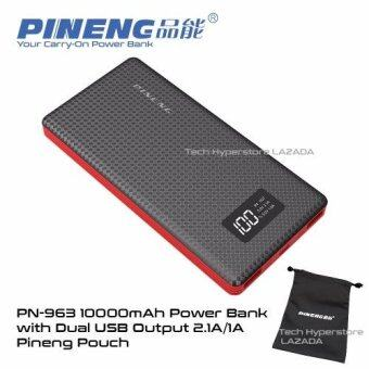 Pineng PN-963 10000mAh PowerBank (Starlight Black) with FREE Pineng Pouch