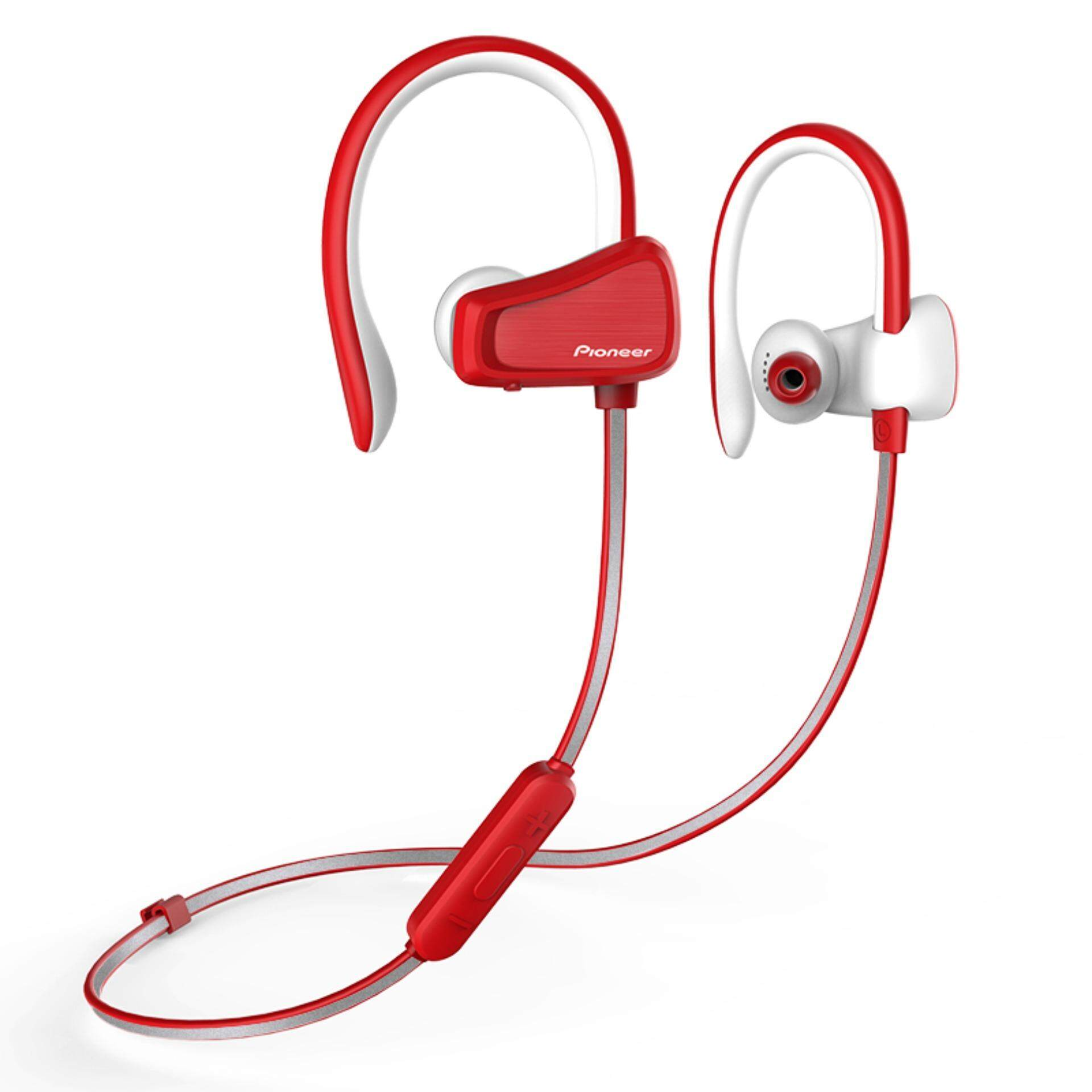 pioneer bluetooth headphones. pioneer relax sports bluetooth headphones with ear hanger(red) | lazada malaysia o