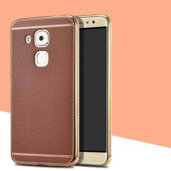 Plating Leather Grain Soft TPU Case Cover for Huawei G8
