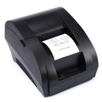 Harga Portable 58mm USB POS Receipt Thermal Printer EU PLUG(Black)