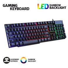 PRADO Rainbow Color LED Backlight USB Wired Gaming Keyboard Light - Professional Gaming Keyboard CL-GX50 Malaysia