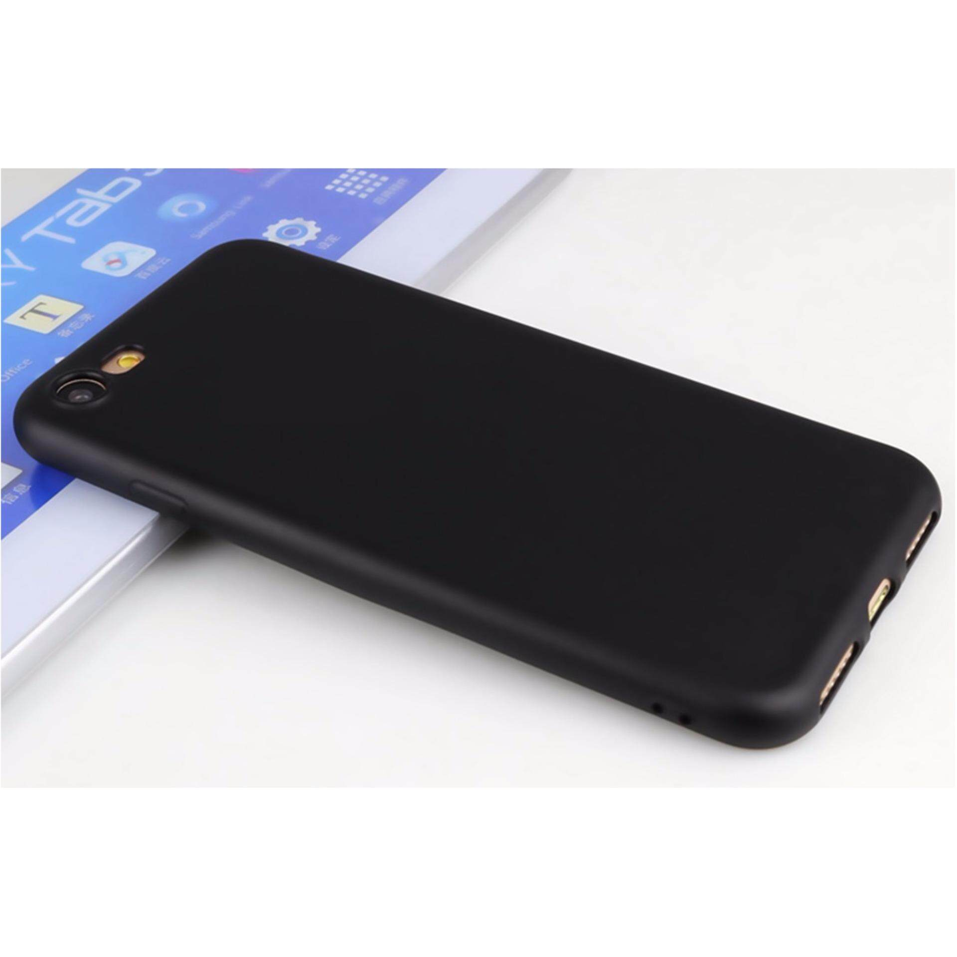 uk availability 828ce ce857 PREMIE Apple IPhone 6 6s Ultra-thin Slim Soft Matte Case Silicone TPU Back  Rubber Cover (Black) FREE 2 x Screen Protector