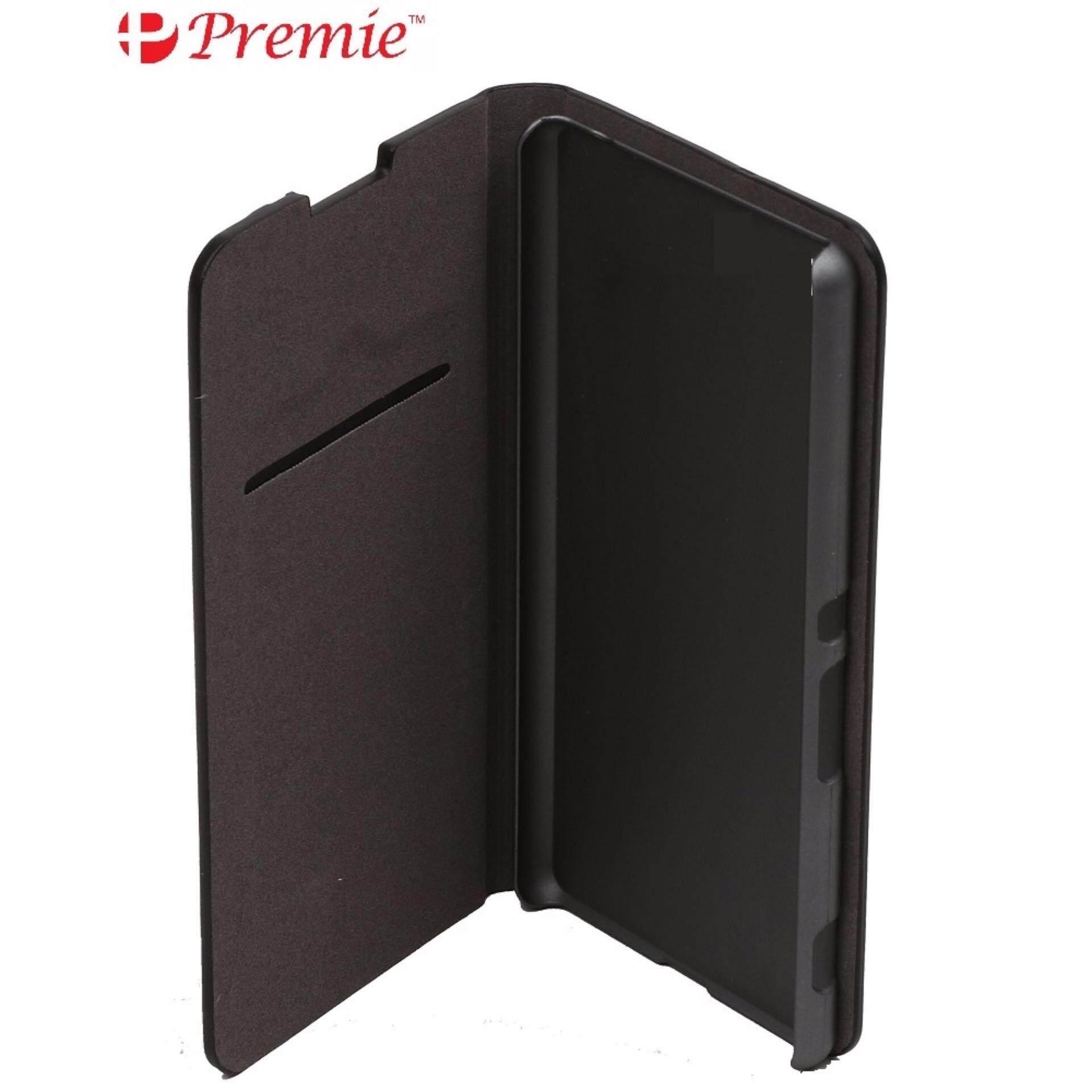 PREMIE Cover Flip Case for Sony Xperia C3 (Black)