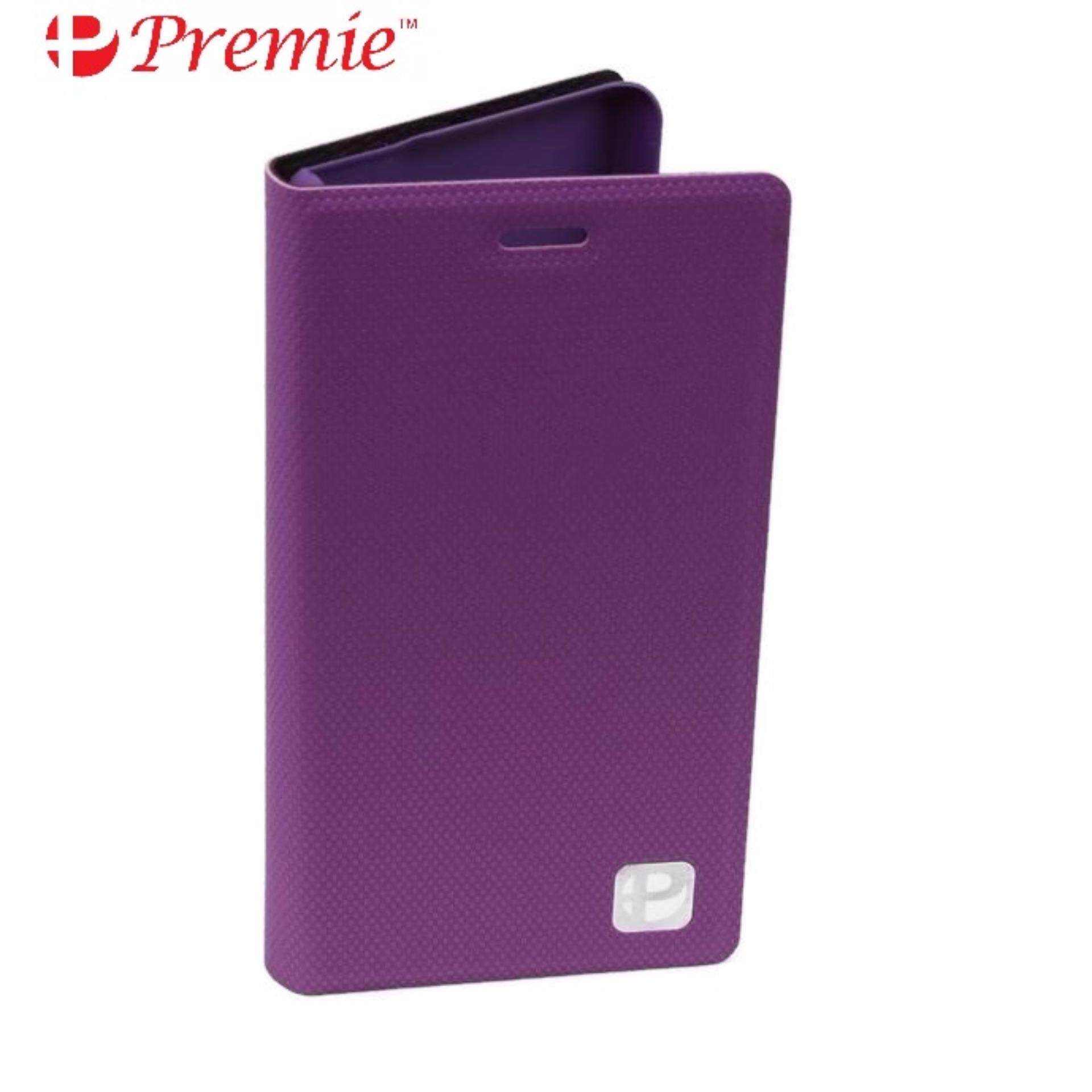 PREMIE Cover Flip Case for Sony Xperia T3 (Purple)