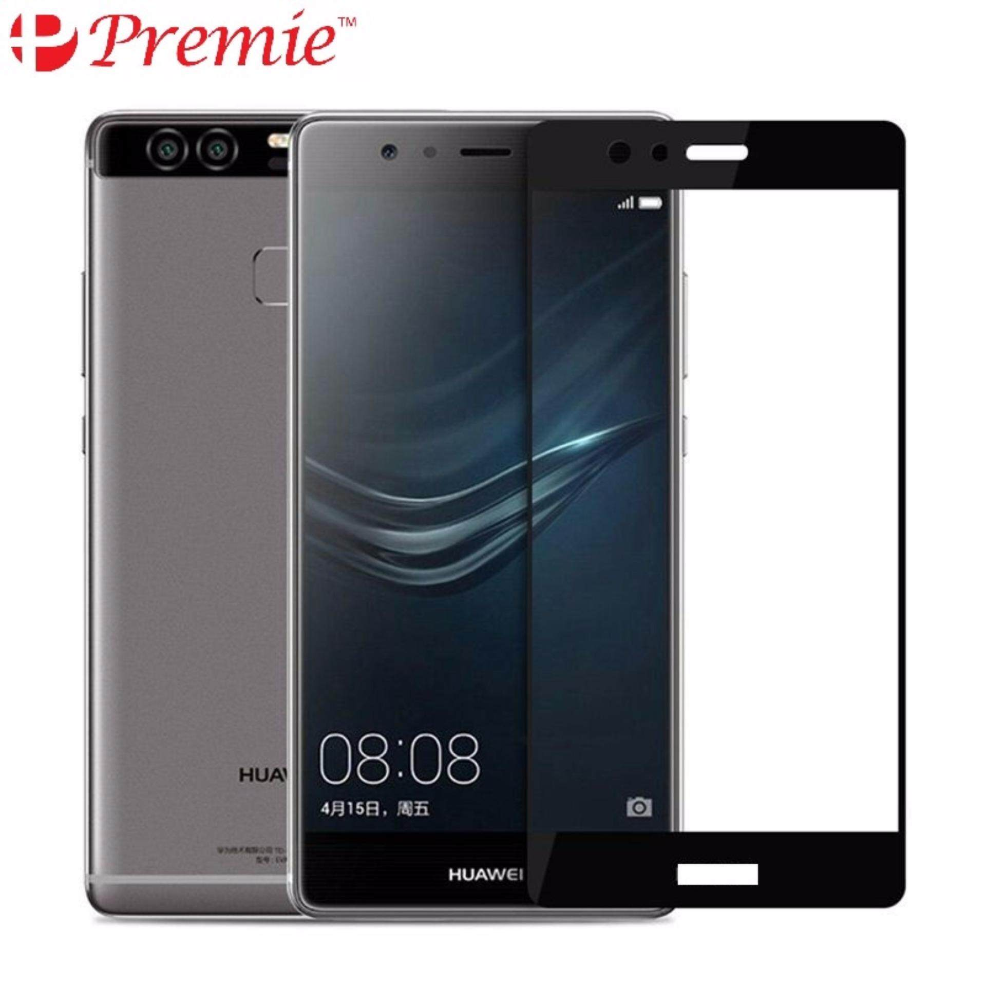 PREMIE Huawei P10 Full Cover Curved Tempered Glass Screen Protector (Black)
