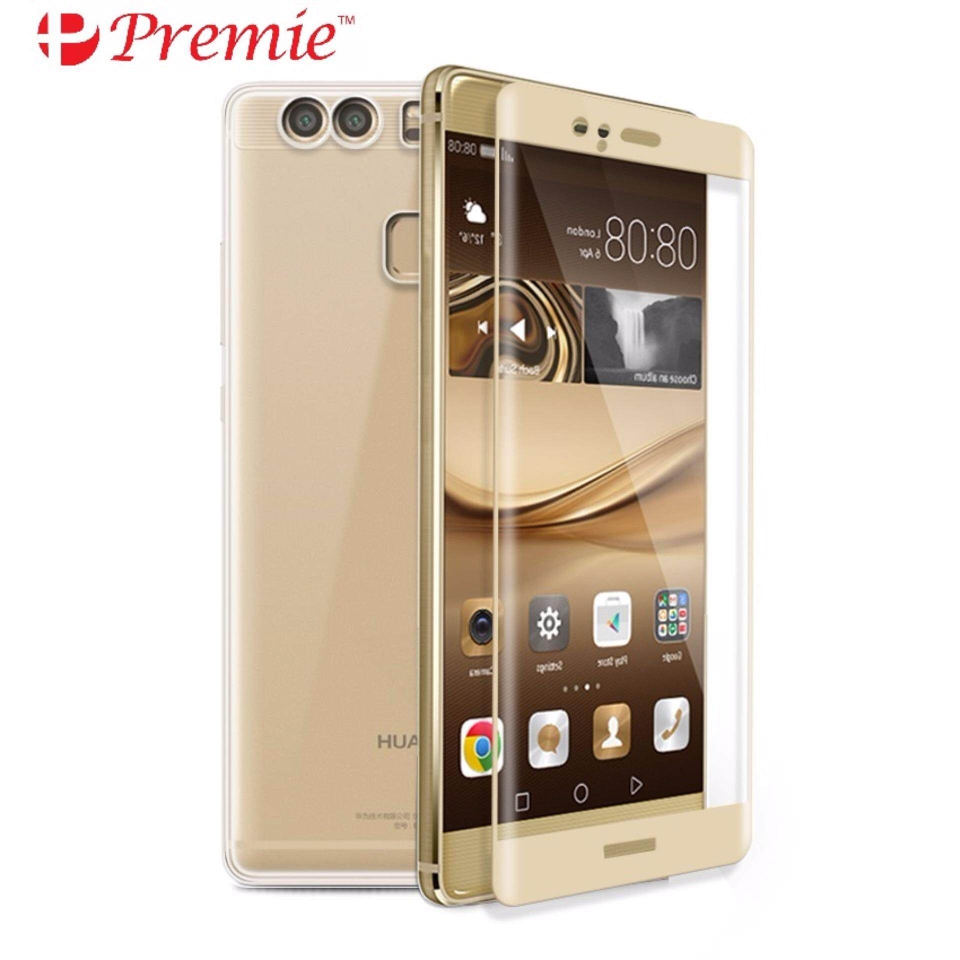 PREMIE Huawei P10 Full Cover Curved Tempered Glass Screen Protector Gold