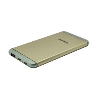 Premium Lithium-ion Polymer Power Bank 5000mAh (1 Year Warranty)GOLD for Smartphone/Tablets/Digital Camera