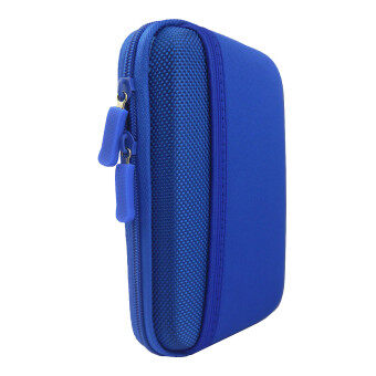 "Harga Protective Shockproof Bag Pouch for 2.5"" Hard Disk Drive + More -Blue"