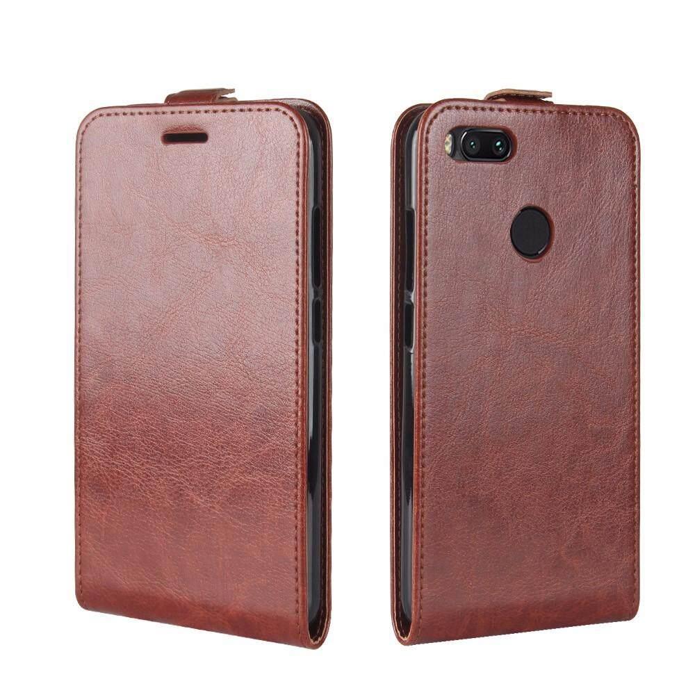 Gambar Produk Rinci PU Leather Flip Cover Case for Xiaomi Mi A1 / Mi 5X (Brown) - intl Terkini