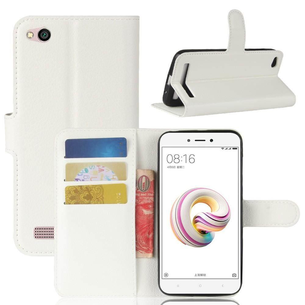 ขาย หนังเทียมกระเป๋าหนังกรณีครอบคลุมสำหรับ Xiaomi Redmi 5A สีขาว นานาชาติ จีน